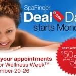 SPAFINDER DEAL DAYS – Wellness Week September 20-26