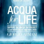 ACQUA DI GIO SUPPORTS UNICEF CLEAN WATER INITIATIVE