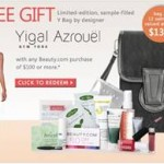 BEAUTY.COM DESIGNER GIFT WITH PURCHASE SERIES PRESENTS YIGAL AZROUËL MAKEUP BAG
