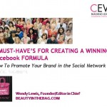 LONDON: Beautyinthebag.com Founder/Editor in Chief Wendy Lewis Speaks on Social Media for CEW Members