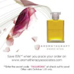 AROMATHERAPY ASSOCIATES' OCTOBER PROMOTION