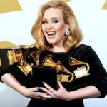 ADELE GLOWS AT GRAMMY AWARDS