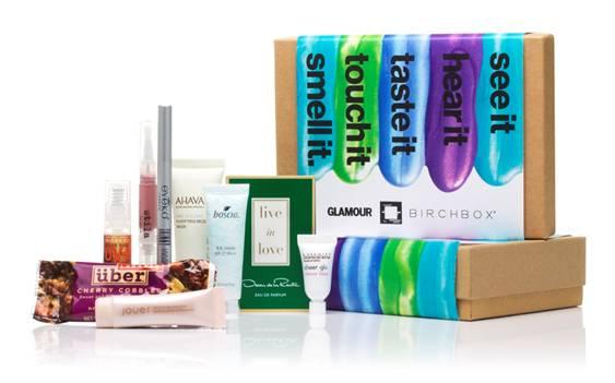 Birchbox and Glamour Partnership July 2012