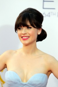 Zooey Deschanel at 2012 Emmy Awards