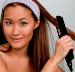 flat-ironing-hair