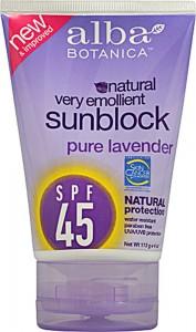 Alba-Botanica-Very-Emollient-Natural-Sunblock-SPF-45-Pure-Lavender-724742003937
