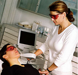 Woman-Having-a-Laser-Treatment