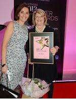 Achiever Sue James (r.) with IPC's Jackie Newcombe.