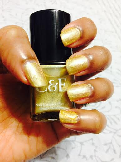 Crabtree & Evelyn Gold Lacquer nail swatch