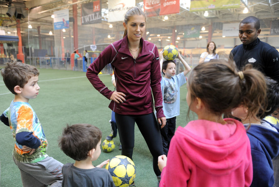 Alex Morgan at the Chapstick press event at Chealsea Piers, NYC.