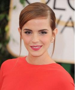 Emma Watson Golden Globes Chanel Makeup