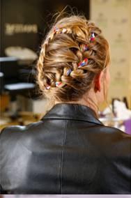 Jamie Anderson Olympic Glam at Sochi and P&G Biathlon hair braid