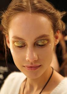 Lela Rose Fall Winter 2014 Beauty.com Backstage