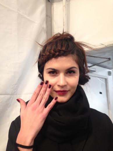 Nanette Lepor hair with James Pecis for Beauty.com Fall Winter Fashionweek 2014