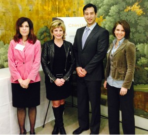 Ulthera's Janice Lipsky and Lindsay Karberg (l) with Drs Tina Alster and Leif Rogers.
