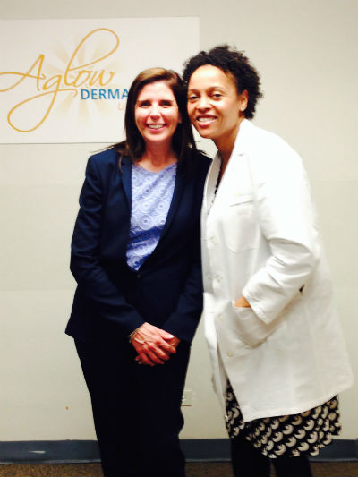 Kirsten Doerfert of Ellman International with Dr. Dina Strachan.