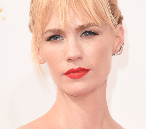January Jones at the Emmy Awards