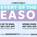 SHOPBOP EVENT OF THE SEASON: GET UP TO 30% OFF FOR 3 DAYS ONLY